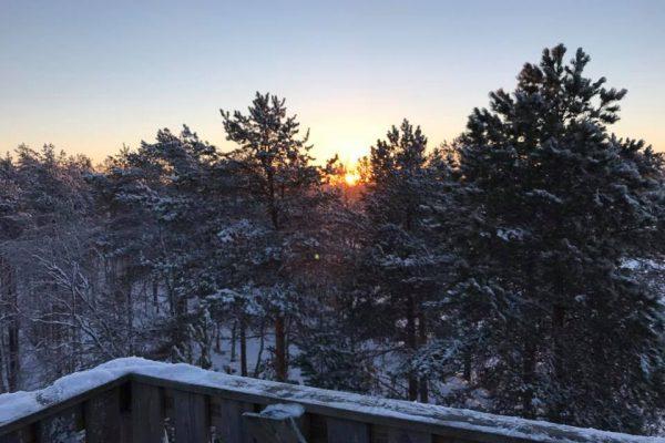 Puesta de sol, Finlandia