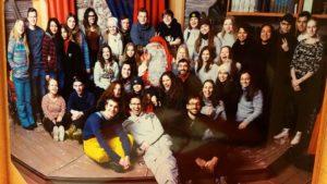 Intercambio en Finlandia - foto de grupo junto a Santa Claus