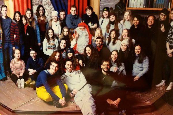Grupo con Santa Claus