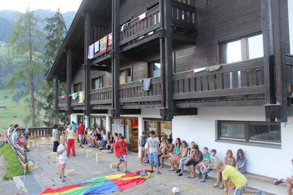 Alojamiento del campamento de Austria.